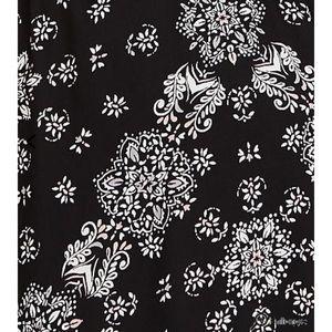 ca7e8d83ce torrid Dresses - Black Floral Challis Romper with Maxi Overlay